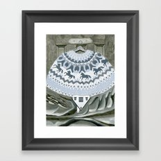 Sweater with Horses Framed Art Print