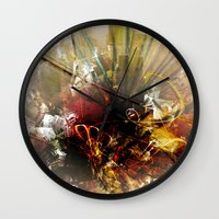 chaos Wall Clocks featuring Chaos by Digital-Art