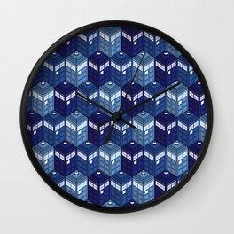 Infinite Phone Boxes Wall Clock