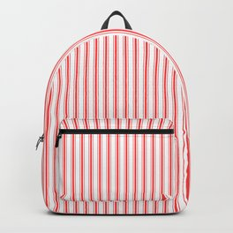 Small Australian Flag Red Mattress Ticking Bed Stripes Backpack