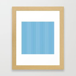 Blue Pinstripes Framed Art Print