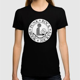 Punk Rock Book Jockey White Logo T-shirt