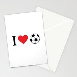I Love Soccer Stationery Cards