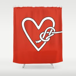 love me knot Shower Curtain