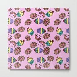 donuts cap cake Metal Print