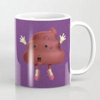 poop Mugs featuring Poop by Adrián Sandá