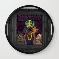 "lebron Wall Clocks featuring ""Neffortlessly"" by SaintCastro"