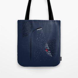 Night. Snow. Bird. Tote Bag