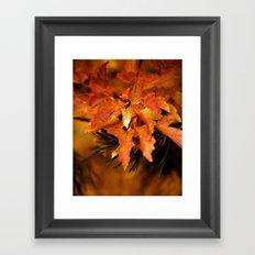Burnt Orange Leaves Framed Art Print