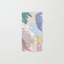 Violet Blush Beige Decorative Abstract painting -2, Colour Symphony abstraction, Hand & Bath Towel