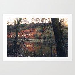 Red rocks near Stourport on Severn, Worcestershire Art Print