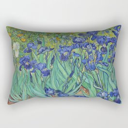 Irises by Vincent Van Gogh Rectangular Pillow