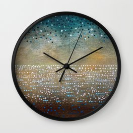 Landscape Dots - Turquoise Wall Clock