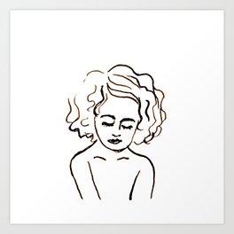 a girl in calm Art Print