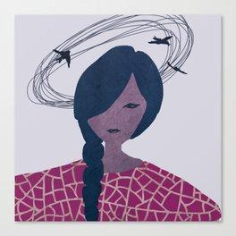 Circling thoughts Canvas Print