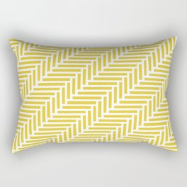 Herringbone 45 Yellow Rectangular Pillow