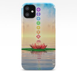 Sacred Lotus - The Seven Chakras First Edition iPhone Case