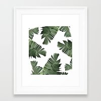 banana leaf Framed Art Prints featuring Banana Leaf Frenzy #society6 by 83 Oranges®