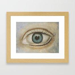 Eye knows all Framed Art Print