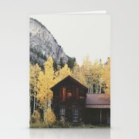 cabin Stationery Cards featuring Crystal Cabin by Kevin Russ