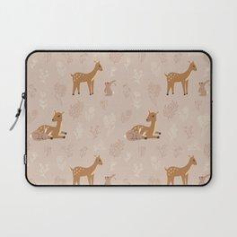 Deer and rabbit cute pattern Laptop Sleeve
