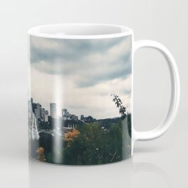 Edmonton Alberta, Digital Painting of a Very Cloudy Downtown just Before an Autumnal Storm Coffee Mug