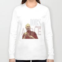 steve jobs Long Sleeve T-shirts featuring Steve Jobs by Thomas Official