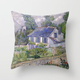 Houses in Auvers Throw Pillow