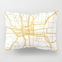 COLUMBUS OHIO CITY STREET MAP ART Pillow Sham