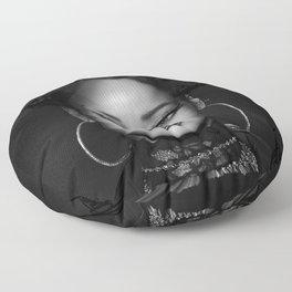 David's Portrait #1 Rihanna Floor Pillow
