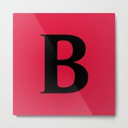 B MONOGRAM (BLACK & CRIMSON) Metal Print
