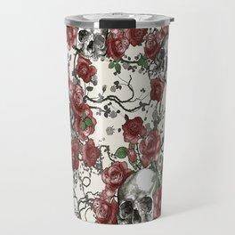 Skulls and Roses or Les Fleurs du Mal Travel Mug