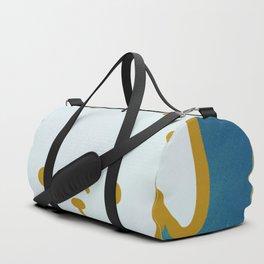 Woof - Dog Graphic - Chalkboard Inspired Duffle Bag