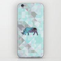 rhino iPhone & iPod Skins featuring Rhino by Dnzsea
