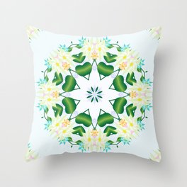 Spring in a spin Throw Pillow