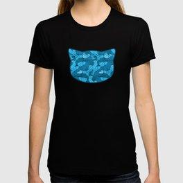 Purrrfect Pattern (Blue) T-shirt