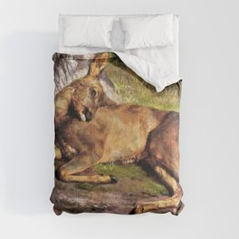 Rosa Bonheur - A Roe Deer In The Forest - Digital Remastered Edition Comforters