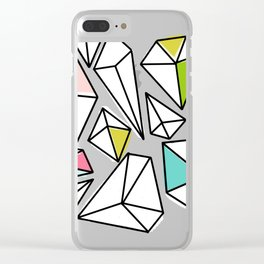 Shine Bright | Colorful Geo Gems Clear iPhone Case
