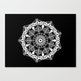 White Mandala 2 Canvas Print