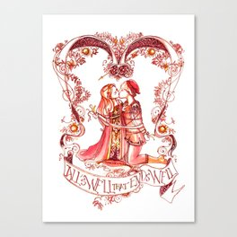 All's Well That Ends Well - Kiss - Shakespeare Illustration Canvas Print