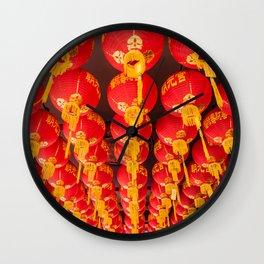 Penang Chinese Lanterns Wall Clock