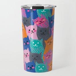 A Bunch of Cats Travel Mug