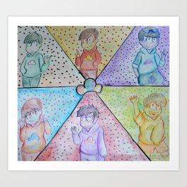 Osomatsu-San Pop Art Art Print