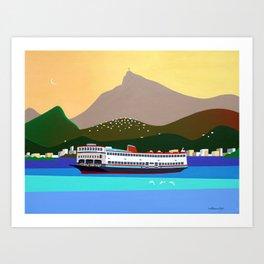 FERRY BOAT IN RIO Art Print
