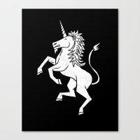 unicorn Canvas Prints featuring UNICORN by Matthew Taylor Wilson