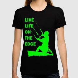 Live Life On The Edge Neon Lime Kitebeach T-shirt