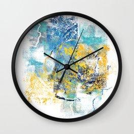Nature Regrowth - Abstract Painting V Wall Clock