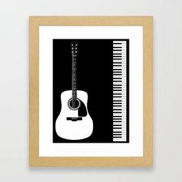 Guitar Piano Duo Framed Art Print