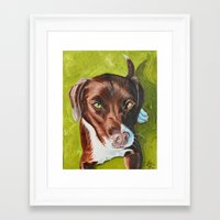 jasmine Framed Art Prints featuring Jasmine by Lindsay Larremore Craige
