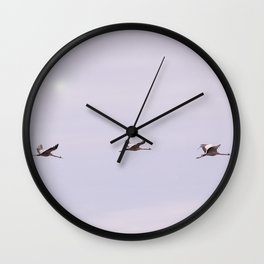 Cranes in Flight #decor #society6 #buyart Wall Clock